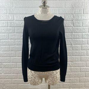 360 Sweater Open Back Black XS